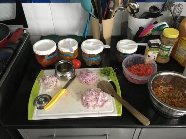 Prepped ingredients