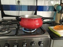 Pressure cooker heating