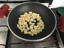 Potatoes sauteing